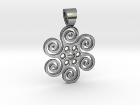 Sun power [pendant] in Polished Silver