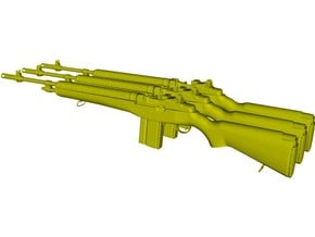 1/24 scale Springfield Armory M-14 rifles x 3 in Smooth Fine Detail Plastic