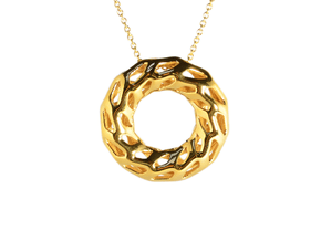 DRAGON, Omega Pendant. Solid Structure. Perfect Co in 18K Gold Plated