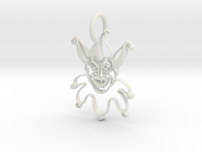 Joker Pendant in White Natural Versatile Plastic