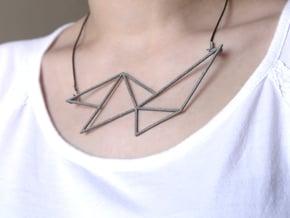 Sharp Necklace - Crystalline Series in Polished Nickel Steel