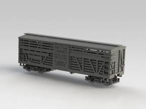 Nn3 Stock car, DRGW 4-pack 1 in Smooth Fine Detail Plastic