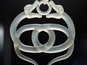 Double Snake Amulet in Smooth Fine Detail Plastic