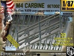 1/87 M4 Carbine Set002 in Smoothest Fine Detail Plastic