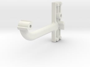 Signal Semaphore Arm (Long) w/bolts 1:19 scale in White Natural Versatile Plastic