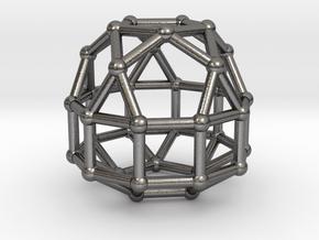 837 J41 Elongated Pentagonal Gyrocupolarotunda #2 in Polished Nickel Steel