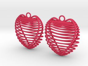 Heart cage in Pink Processed Versatile Plastic