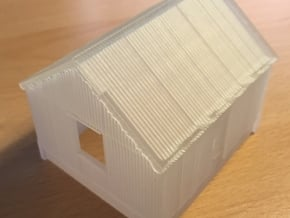 Corrugated Iron Shed 4mm/ft in Smooth Fine Detail Plastic