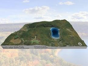 Devil's Lake Map (1:24k)  - Bathymetry in Glossy Full Color Sandstone