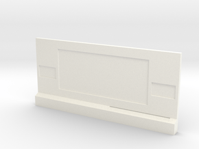Wall Command Station in White Processed Versatile Plastic