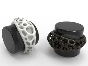 Bubble Ring No.1 in White Natural Versatile Plastic