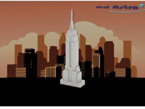 Empire State Building - New York(1:4000) in White Natural Versatile Plastic