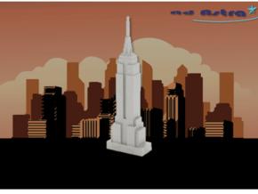 Empire State Building - New York(3 inch) in White Natural Versatile Plastic