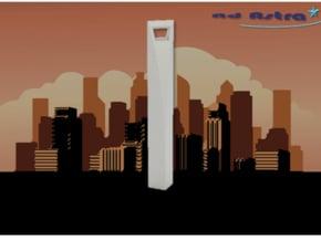 Shanghai World Financial Center (1:4000) in White Natural Versatile Plastic