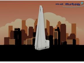 The Shard - London (1:4000) in White Natural Versatile Plastic