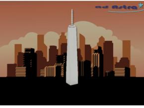 One World Trade Center - New York (1:4000) in White Natural Versatile Plastic