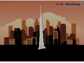 Burj Khalifa - Dubai (1:4000) in White Natural Versatile Plastic