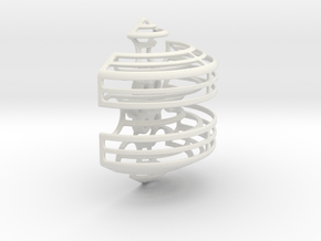 Wireframe Astrolabicon // Side A in White Natural Versatile Plastic