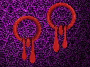 1 Inch Bleeding Tunnels 2 in Red Processed Versatile Plastic