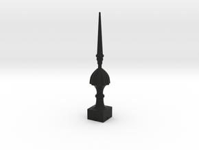 Signal Semaphore Finial (Victorian Spike)1:19scale in Black Natural Versatile Plastic