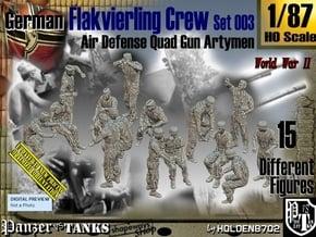 1/87 German Flak Crew Set 003 in Smooth Fine Detail Plastic