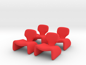 4 Tiny Djinns in Red Processed Versatile Plastic