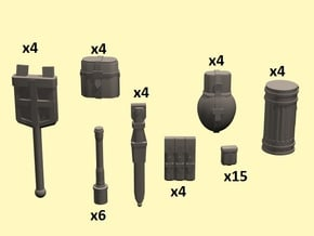 1/35 WW2 German infantry equipment in Smoothest Fine Detail Plastic