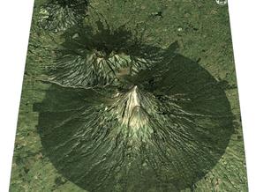 Egmont National Park Map in Full Color Sandstone