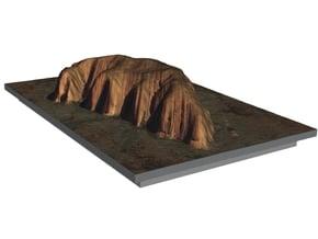 Uluru / Ayers Rock Map in Glossy Full Color Sandstone