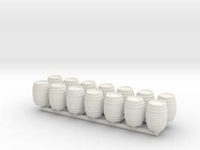 Wooden Barrel 01. O Scale (1:48) in White Natural Versatile Plastic