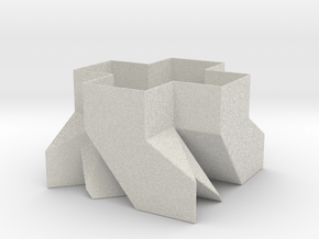 Sq. Planter (Downloadable) in Natural Full Color Sandstone