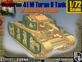 1-72 Hungarian 41M Turan II Sideskirts Frames in White Natural Versatile Plastic