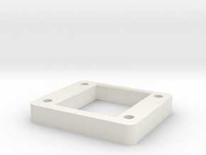 D216_shock_tower_spacer_sh_6mm in White Natural Versatile Plastic