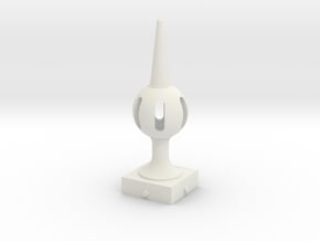 Signal Finial (Pierced Ball) 1:24 scale in White Natural Versatile Plastic