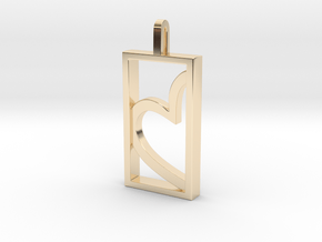 Heart of Gold in 14k Gold Plated Brass: Medium