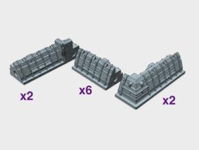 [Tiny Titans] 10 piece City Walls  in White Processed Versatile Plastic