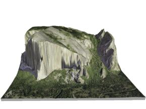 "El Capitan Map: 8.5""x11"" in Glossy Full Color Sandstone"