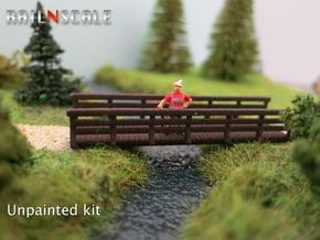 Holzbrücke 54mm (N 1:160) in White Natural Versatile Plastic