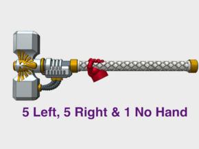 11x Sanguine Legion - Cassiel Energy Hammer in Smooth Fine Detail Plastic