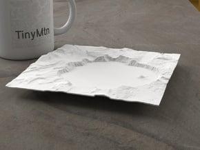 6'' Crater Lake, Oregon, USA in White Natural Versatile Plastic