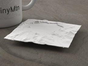 4'' Crater Lake, Oregon, USA in White Natural Versatile Plastic
