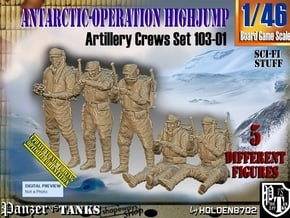1/46 Antarctic Troops Set103-01 in Smooth Fine Detail Plastic