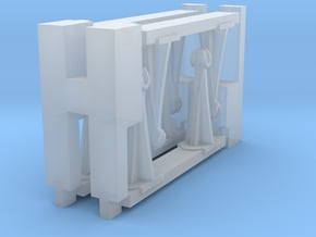 HO scale 8 queenposts & 4 beam/supports in Smoothest Fine Detail Plastic