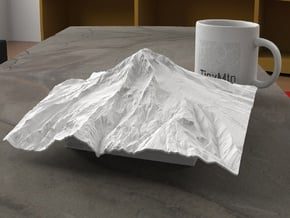 8'' Mt. Hood, Oregon, USA in White Natural Versatile Plastic