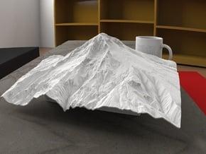 12'' Mt. Hood, Oregon, USA in White Natural Versatile Plastic