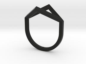 Ring - Portl in Black Premium Versatile Plastic: 6 / 51.5