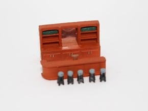 N Scale Bar Interior in Smooth Fine Detail Plastic