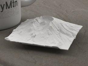 3'' Mt. St. Helens, Washington, USA in White Natural Versatile Plastic