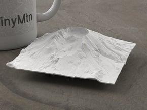 4'' Mt. St. Helens, Washington, USA in White Natural Versatile Plastic