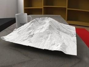12'' Mt. St. Helens, Washington, USA in White Natural Versatile Plastic